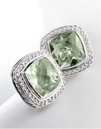 David Yurman Inspired Jewelry Diamonds Prasiolite Cable Earrings Global Trade Leader Ecrobot Com
